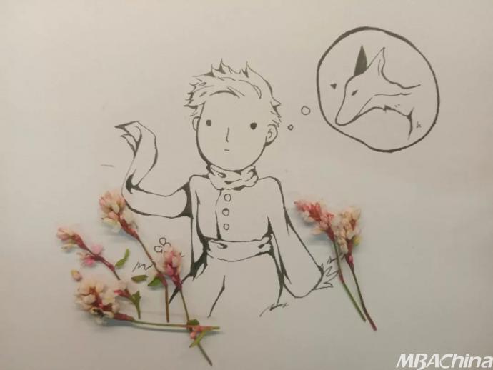 可爱精灵狐狸简笔画.